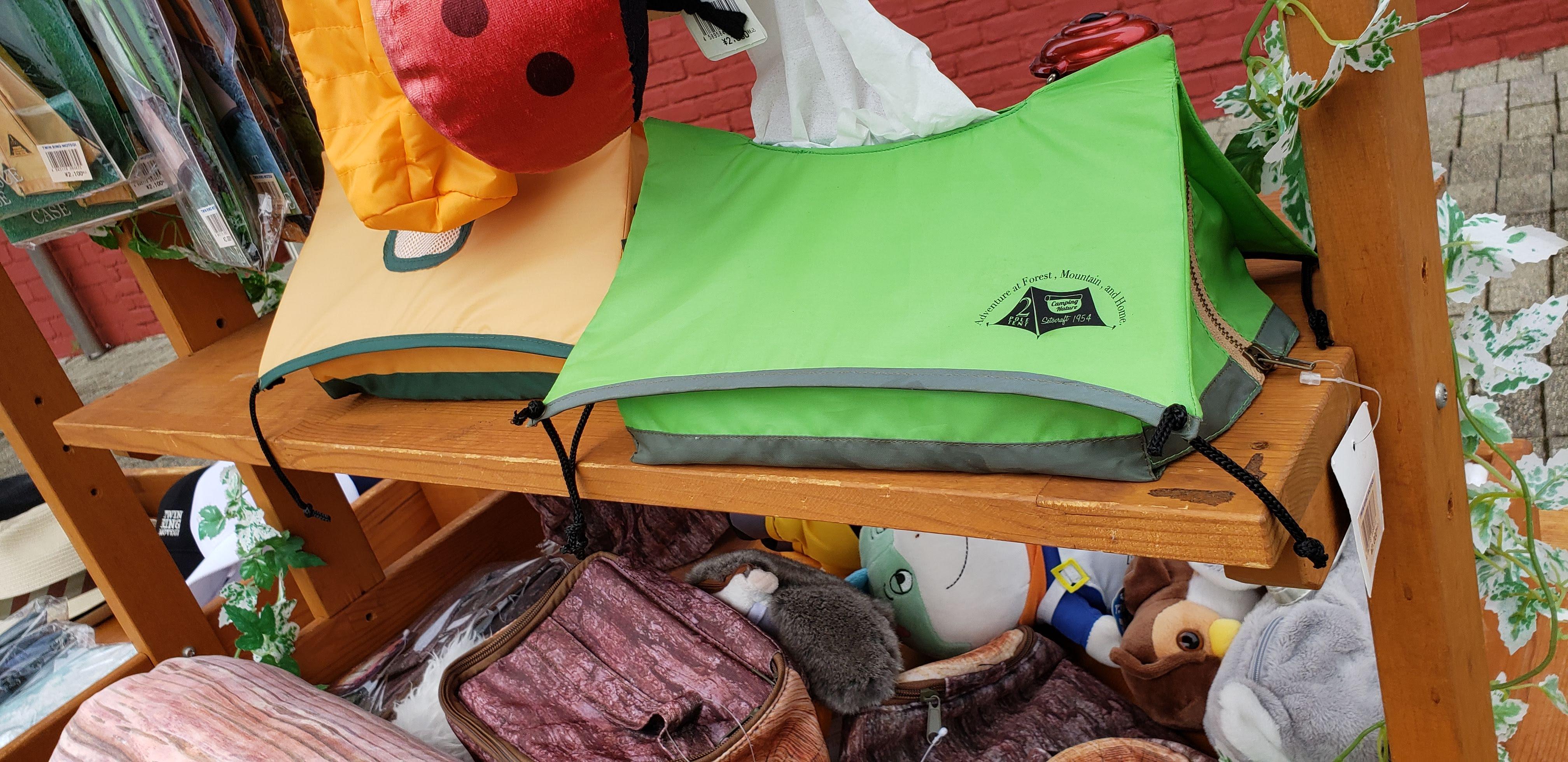 ツインリンクもてぎで見つけた癒やしのテント型ティッシュケース
